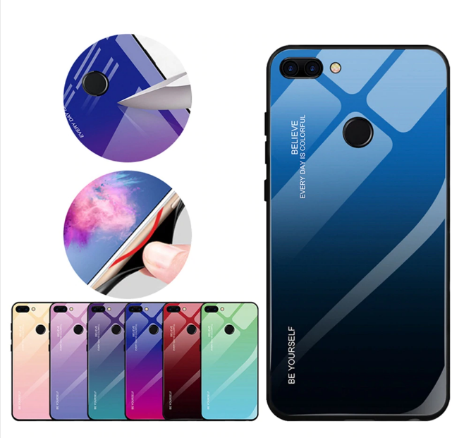 Чохол-накладка TPU+Glass Gradient HELLO для Xiaomi Mi 8 Lite / Є скла /