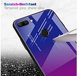 Чохол-накладка TPU+Glass Gradient HELLO для Xiaomi Mi 8 Lite / Є скла /, фото 3