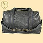 Дорожная сумка искусственная кожа серая качество люкс, фото 3
