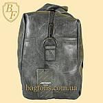 Дорожная сумка искусственная кожа серая качество люкс, фото 4