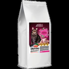 Home Food (Хоум Фуд) корм для взрослых кошек лосось и индейка, 3 кг