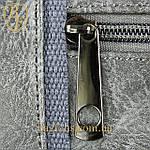 Дорожная сумка искусственная кожа серая качество люкс, фото 7