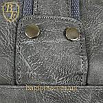 Дорожная сумка искусственная кожа серая качество люкс, фото 8