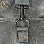 Дорожная сумка искусственная кожа серая качество люкс, фото 9
