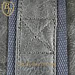 Дорожная сумка искусственная кожа серая качество люкс, фото 10