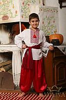 Рубашка вышиванка детская для мальчика.Ткань – домотканая 100% хлопок