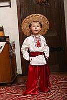 Рубашка вышиванка детская для мальчика.Ткань – домотканая 100% хлопок Нить к вышивке - шелковая с экологически
