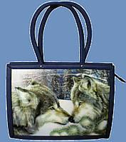 """Эксклюзивная сумка с 3D STEREO рисунком """"Волки"""""""
