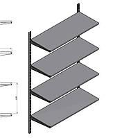 Новый эконом стеллаж на настенных рейках с полками WIKO ВИКО для магазина. Торговое оборудование в наличии