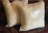Подушки на овчине с окантовкой, цвет  белый, в упаковке 2шт, фото 1