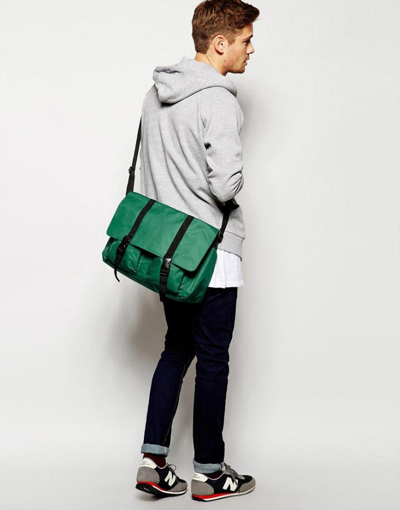 Сумка на плече (велика вело-сумка) - Asos - Satchel - Green