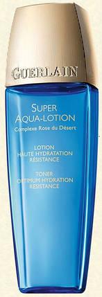 Распродажа лосьона для лица Guerlain super aqua-lotion 50 мл. Поврежден флакон, фото 2
