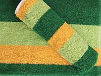 Полотенце кухонное махровое зеленое с желтым 50*30