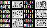 Набор трафаретов 20 шт. для nail art №11, фото 1