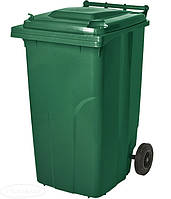 Бак для мусора Алеана на колесах с ручкой 240 литров зеленый