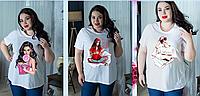 Летняя футболка с печатным рисунком, с 48- 98 размер, фото 1