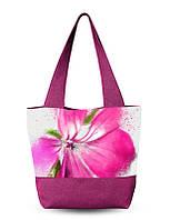 Сумка пляжная женская с цветами.