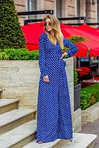 """Длинное летнее платье в горошек """"BONYA"""" с разрезами и декольте, фото 2"""