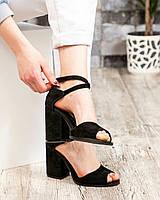 Туфли женские  открытые черные, фото 1