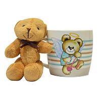 "Чашка с игрушкой 320мл ""Медвеженок-ангел"" TM Keramia 21-272-036"
