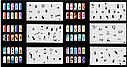 Набор трафаретов 20 шт. для nail art №9, фото 2