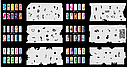 Набор трафаретов 20 шт. для nail art №9, фото 3