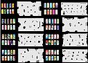 Набор трафаретов 20 шт. для nail art №9, фото 4