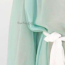 Пляжное платье бирюзовое с белым поясом 146-61, фото 2