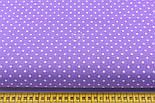 Ткань с горошком 3 мм на сиреневом фоне (№199а), фото 2