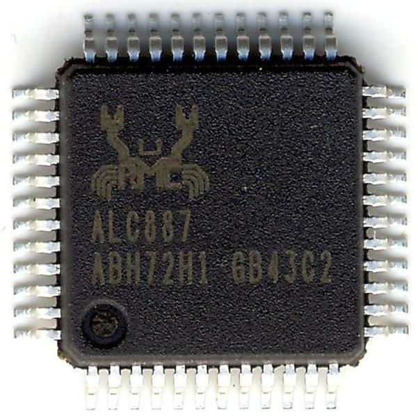 Микросхема Realtek ALC887 звуковая карта для ноутбука