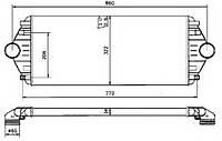 Радиатор интеркулера  CITROEN EVASION, JUMPY; FIAT SCUDO, ULYSSE; LANCIA ZETA; PEUGEOT 806, EXPERT 1.9D-2.1D 0