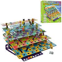 Настольная многоуровневая игра Змеи и лестницы, Multi-Level Snakes & Ladders