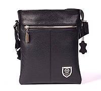 Кожаная мужская сумка Philipp Plein 22х19 см Двусторонняя. Мужская сумка из натуральной кожи, фото 1