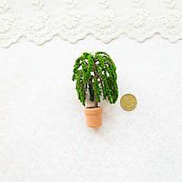 1:12 Миниатюра - горшок с растением, 6.5 см