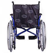 Коляска инвалидная облегченная «Light 3» синяя OSD (Италия), фото 3