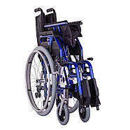 Коляска инвалидная облегченная «Light 3» синяя OSD (Италия), фото 4