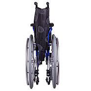 Коляска инвалидная облегченная «Light 3» синяя OSD (Италия), фото 5