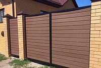 Доска из ДПК для забора Polymer&Wood PRIVAT 284х20х2200/3000 мм, фото 1