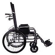Коляска инвалидная с откидной спинкой «Recliner» (хром), фото 2