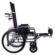 Коляска инвалидная с откидной спинкой «Recliner» (хром), фото 3