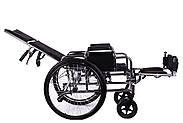 Коляска инвалидная с откидной спинкой «Recliner» (хром), фото 4