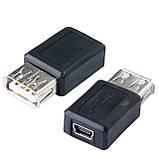 Адаптер-перехідник 002 USB міні mini для планшета телефону GPS навігатора відеореєстратора, фото 2