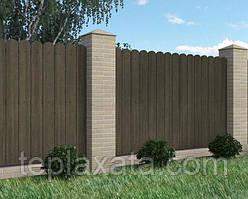 Доска из ДПК для забора Polymer&Wood MASSIVE 150х20х2200/3000
