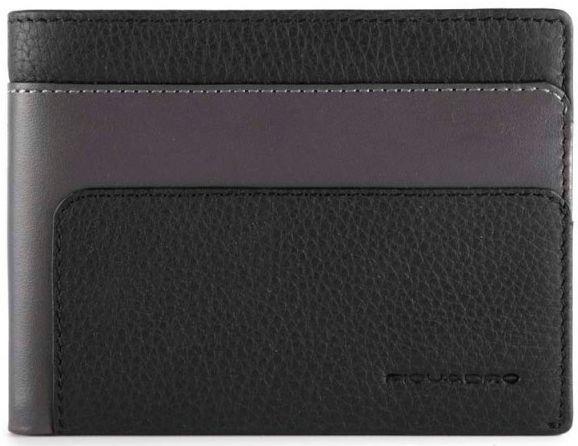 Мужское портмоне кожаное Piquadro FEELS PU4188S97R_N, черный