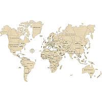 Деревянный 3D пазл Карта мира XXL (гигантский размер), фото 1