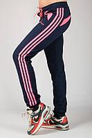 Трикотажные спортивные брюки женские (синие)