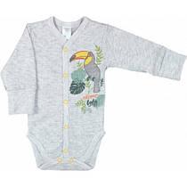 Боди для новорожденных  Tropic baby трансферная рибана  62 серый