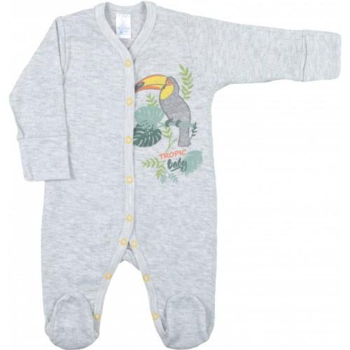 Комбинезон для новорожденных Верес Tropic baby трансферная рибана  56 серый