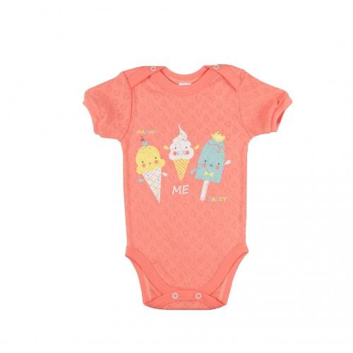 Боди-футболка Верес  Sweet Family трансферная рибана  62 персиковый