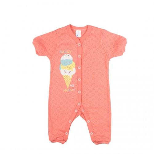 Комбинезон-ромпер для новорожденных Верес  Sweet Family трансферная рибана  56 персиковый